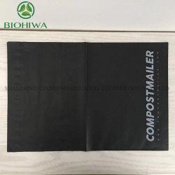 Il PLA amichevole portatile verde di Eco dell'amido di mais di Environmentaldurable Hotsale ricicla il poli sacchetto di plastica impaccante biodegradabile riutilizzabile del bollettino con En13432 Certifie