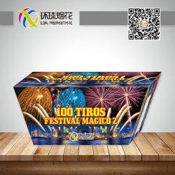 1.2inch 100shotsの祝祭のMagico Zの消費者表示はファン屋外の中国人1.4Gの花火を殻から取り出す