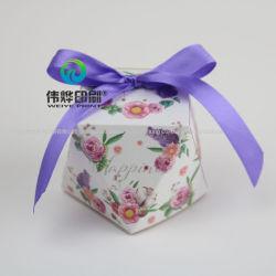 カスタム印刷の最も新しい菓子器の結婚式の装飾のペーパーギフトの包装ボックス