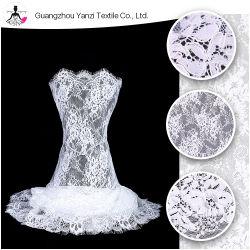 2019 Дизайнер одежды ткань Custom оптовой белый тюль устраивающих французский проводные кружева Eyelash французского кружева