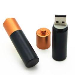 محرك أقراص USB محمول على شكل بطارية معدنية، قرص USB محمول على شكل بطارية، شريحة ذاكرة على شكل بطارية