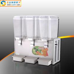 Distributeur de jus réfrigéré froid d'hôtel commercial de 3 réservoirs à vendre