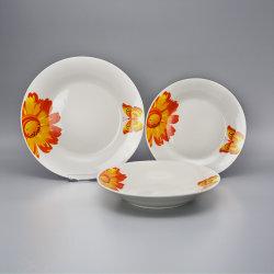 Porzellan-Abendessen-Set des Abziehbild-18PCS keramisches mit Blumen