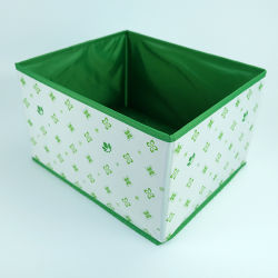カラフルな折りたたみ式装飾ファイルオーガナイザー PVC レザーストレージボックス
