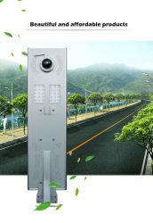 Gov. Peoject todos em um 40W 60W 90W 100W 120W piscina IP65 LED solares OEM Street Jardim com controle de luz de estrada indução integrado com câmara CCTV de alta definição