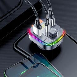 이중 USB +Pd 유형 C 포트를 가진 Bluetooth를 가진 차 FM 전송기