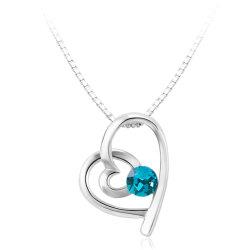 Beaux bijoux nouveau coeur romantique de style collier avec la couleur verte pour les femmes de gros de zircon
