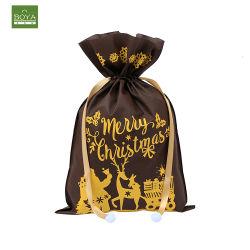 環境保護の卸し売り注文の設計はロープのバックパックのショッピングギフトを引っ張る ハンドバッグ