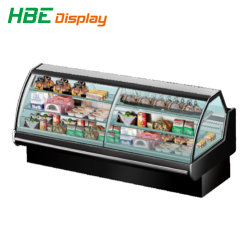 Supermarkt Commercial Refrigeration Equipment Sushi Sandwich Meat Display Case