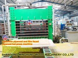 La Junta de melamina laminado en caliente de contrachapado de máquina de prensa