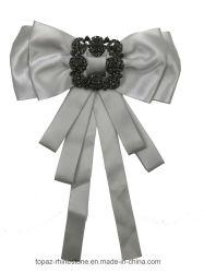 2018 DIYのブローチPinのリボンの服(BR-17)のためのハンドメイドの美しい結婚式ファブリックラインストーンの水晶ブローチ