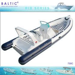 Балтийские ребра 730 C Надувные лодки с корпусом из стекловолокна консоли