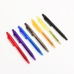 Transparent Plastic pen Cartoon Mini Balpen voor kinderen Promotie Cadeau