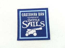 Una buena calidad etiqueta tejida Logotipo personalizado prendas de vestir
