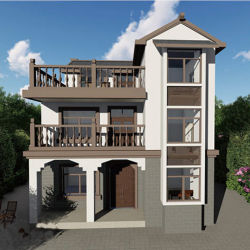 Стальной дом сегменте панельного домостроения из дома новые модели виллы здания из сборных конструкций стальные здания стали структуры Сделано в Китае