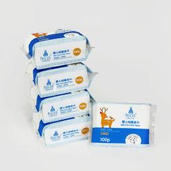 Serviette de toilette pour bébé jetables de tissus en coton naturel