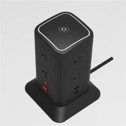 8 Vertical Socket Outlet Tower Power Strip