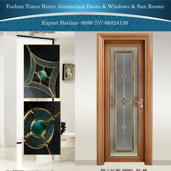 O alumínio Porta Casement porta do banheiro com ornamentos de Jade