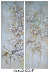 Sakura Blanca Flor de Cerezo orientales Óleo-700430 (izq.)