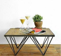 Contrajo y la moda contemporánea personalidad creativa, el hierro forjado de madera maciza Mesa de Comedor El salón bares pequeños mesa de té (M-X3318)