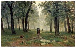 Les artistes célèbres Huile sur toile, peinture d'art, Masterpiece Huile sur toile, détecteur de pluie dans une forêt de chêne (1891 ans) -Ivan Chichkine
