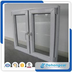 профиля стекла UPVC/PVC 5+12A+5mm окно Casement двойного пластичное/окно тента с панелью 2