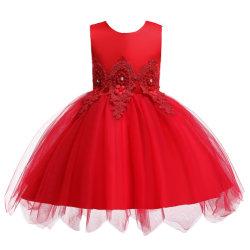 Los niños de la belleza de las niñas vestidos niña Niño vestido de novia de puntilla de tul bordado de flores de ESG13539 Vestidos de verano