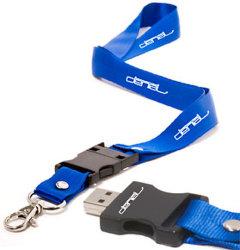 Рекламный шнурок флэш-накопитель USB 2 ГБ и имеющиеся возможности