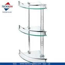 De in het groot Hoek van de Badkamers maakte Aangemaakt Glas voor de Planken van het Glas van de Deur van de Douche/Plank aan