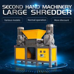 Tweedehands kunststof papiervernietiger machine Dubbel asje Rubber Schrootje Board Shredder voor behandeling in de fabriek