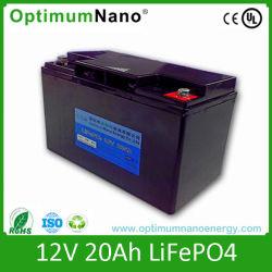 Pack de Batterie LiFePO4 12V 20Ah cycle profond pour l'énergie solaire