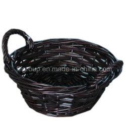 Kundenspezifischer umweltfreundlicher handgemachter ovaler Rattan-Korb mit antiker Farbe