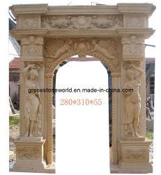 Pierre sculptée porte/ la porte de marbre entoure
