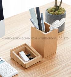 حامل القلم الخشب الخيزران تخزين سطح المكتب