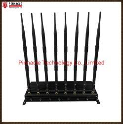 8 Telefon 2g/3G/4G/5g/WiFi2.4G/5.8g/GPS L1/L2/L3/L4/L5/VHF-/UHFder antennen-80W signal-Hemmer mit Auto-Aufladeeinheit und eingebauter Batterie 2hours für Option