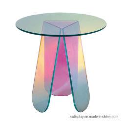 Mode Schillernde Acryl Couchtisch Rund Plexiglas Farbenfroh Modern Dining Schreibtisch