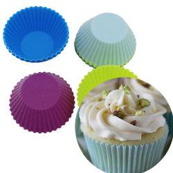 كعكة السيليكون قالب حلوى مافين كيوكيك الخبز قوالب الحلوى المموّلة على شكل دائري صانع أدوات الطهي