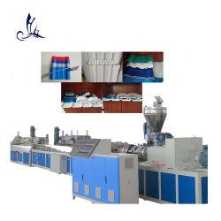 Parafuso cónico duplo plástico Extruder único dupla camada corrugado telhado Painel de azulejos PVC Perfil extrusão linha fabricação Máquina