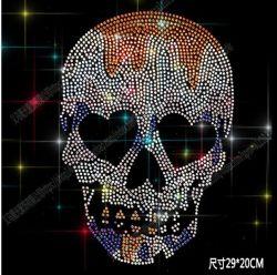La transferencia de estrás cráneo /Esqueleto Revisión de transferencia de Estrás ropa Motif