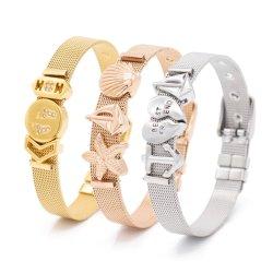 Schmucksache-Zeichen-Ineinander greifen Silder Charme-Armband der Form-kundenspezifisches Entwerfer-DIY