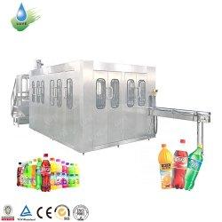 Bebida carbonatada de prácticas en el vaso de agua de soda aireada máquina de llenado de botellas de bebidas para la CDS