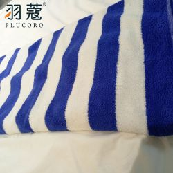 Blaue und weiße Streifen-Strand-Hotel-Tücher der weiße Qualitäts-Baumwolle100% in Guangzhou