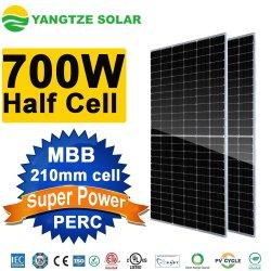 700 W hoogste efficiëntie 25 jaar garantie half Cell PV Solar Systeem Monocrystalline zonnepaneel met zonnecelbank TUV CE ISO IEC