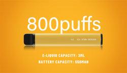 800 bouffées de qualité Premium La cigarette électronique jetable Leak-Proof étiquette blanche Bienvenue