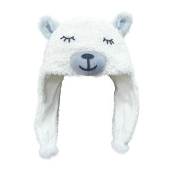 Commerce de gros de la tête d'Alpaga Lama Plush hiver chaud chapeaux Kids Animal Hat
