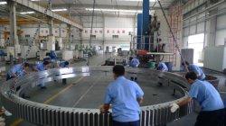 Rolamento de tamanho grande Engrenagem Interna do Rolamento da Plataforma Giratória os rolamentos do anel giratório para Deck Máquina de gruas, a energia eólica e a construção de máquinas