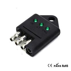 Tirol Testeur de remorque à 4 broches de connecteur T25423P3 remorque Testeur de câblage des feux de remorque droite du testeur du circuit du fil Accessoires de voiture