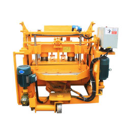 ماكينة صناعة الإسمنت طراز Qt40-3A المتحركة ذات ماكينة الكتلة المجوف صانع