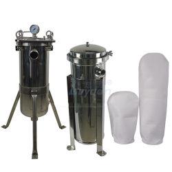 La purificación del agua 5 micras SS304 316L Bolsa Aqua la caja del filtro con una sola PP PE bolsa de nylon Filtro de acero (18X32 pulgadas)