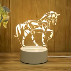 [3د] وهم [لد] لين أضواء, حصان حجر السّامة [دسك لمب], مصباح هبات, [3د] [لد] بصريّة ليل أضواء